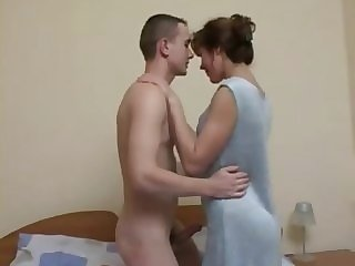 russian amateur Mature lady and her young friend