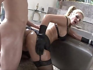 lingerie hardcore Phoenix Marie anal with an oily butthole is hot