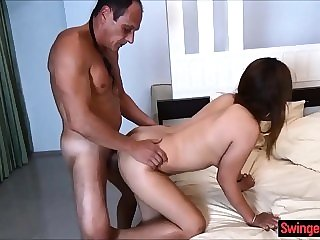 doggystyle asian Asian amateur wife gets double penetrated by foreigners