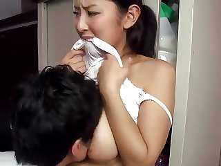 japanese asian Hot japanese married neighbour teasing me