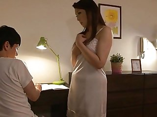 mature asian Japanese mom saw my hard dick