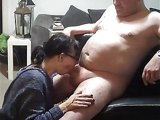 mature amateur tough job to swallow