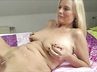 mature amateur Hot Blonde Wife Cucking and clean up
