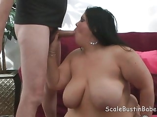 brunette blowjob BBW Charlie POV BJ Fucking With Flogging