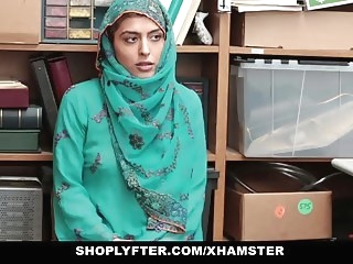cumshot brunette Shoplyfter- Hot Muslim Teen Caught & Harassed