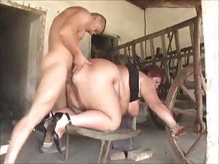 bbw blowjob Mature SSBBW fucked in the barn