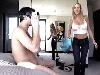 big tits blonde Brandi Love in Stepmom Plays With Gamer Stepson's Joystick - SpyFam