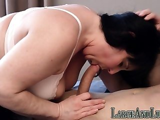 big boobs bbw Brunette plumper enjoying hardcore screwing
