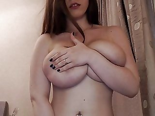 fingering webcam slim busty nerdy girl plays with her big boobs and pussy