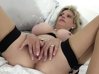hardcore british British Sonia lets one of her biggest fans fuck her MILF