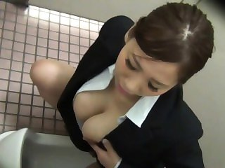big boobs asian Japanese slut masturbates