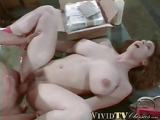 cumshot blowjob MILF has her tight hole stretched by a hung hunky studs cock