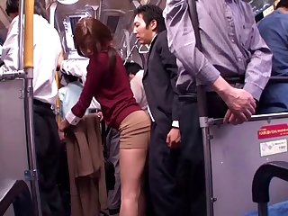 blowjob japanese Japanese whore sucks dick in a public bus