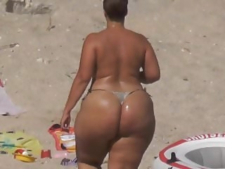 tits beach Freaks Extreme Big Phat Ass Booty topless sunbathing string