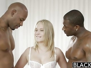 interracial blonde BLACKED Beautiful Blonde Dakota James Screams With 2 Big Bla