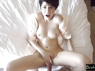 hardcore babe Bratty Sis - Fucked My Stepsister In Our Parents Bed