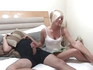 blonde babe Helping NOT Her Bro N15