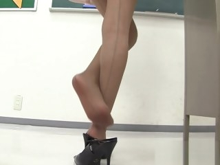 asian accidental nudity Young asian teacher in miniskirt! upskirt thong flashing in the classroom !